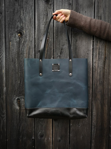 The Everyday Duo Tote in Azurite - Large
