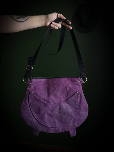 Purple Waxed Canvas Cauldron