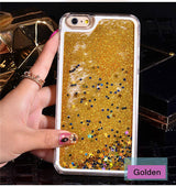 Liquid Glitter Sand Quicksand Cases For iphone 4 4S 5 5s SE/6 6s / 7 plus