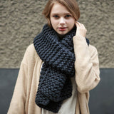 Winter Knitted Scarves - Womans Clothing