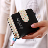 Candy Colors Women's Wallets Short Polka Dots