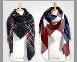 Winter Scarf Plaid Scarf - Womans Clothing