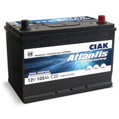 AKUMULATOR CIAK ATLANTIS 12V- 105AH MARINE BATTERY START/SERVICE MF