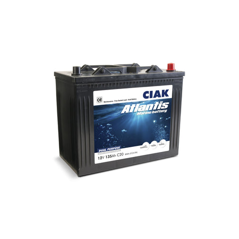 AKUMULATOR CIAK ATLANTIS 12V- 135AH MARINE BATTERY START/SERVICE MF