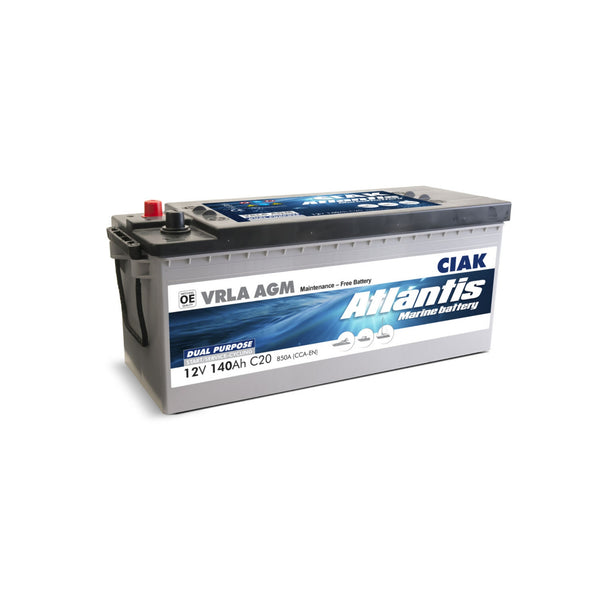 AKUMULATOR CIAK ATLANTIS 12V- 140AH MARINE BATTERY START/SERVICE AGM
