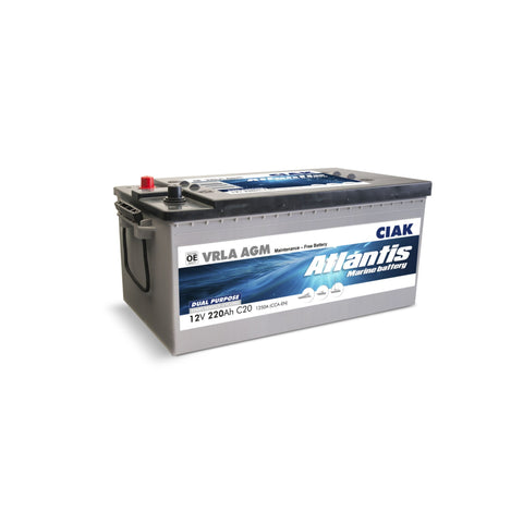 AKUMULATOR CIAK ATLANTIS 12V- 220AH MARINE BATTERY START/SERVICE MF AGM
