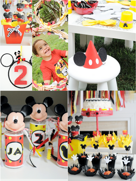 cartoon mouse birthday party