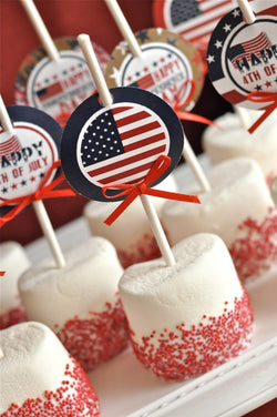 4th of July Party Printables Supplies & Decorations with Invitations | BirdsParty.com