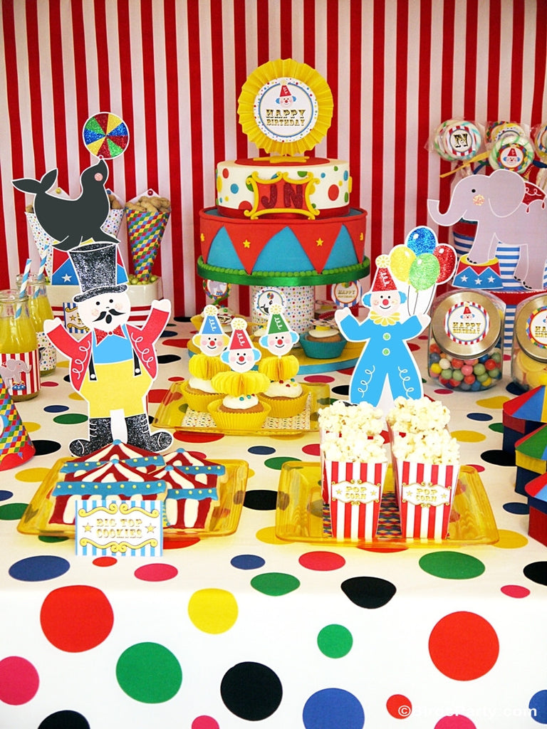 circus carnival birthday party printables supplies. Black Bedroom Furniture Sets. Home Design Ideas