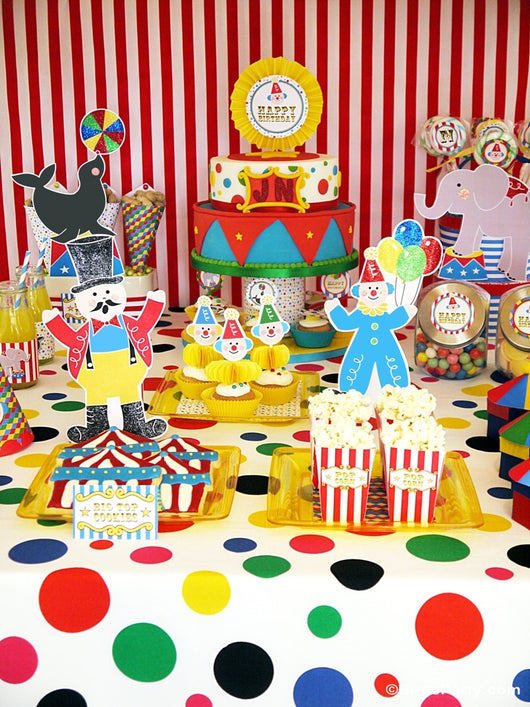Big Top Circus Carnival Birthday Party Printables Supplies