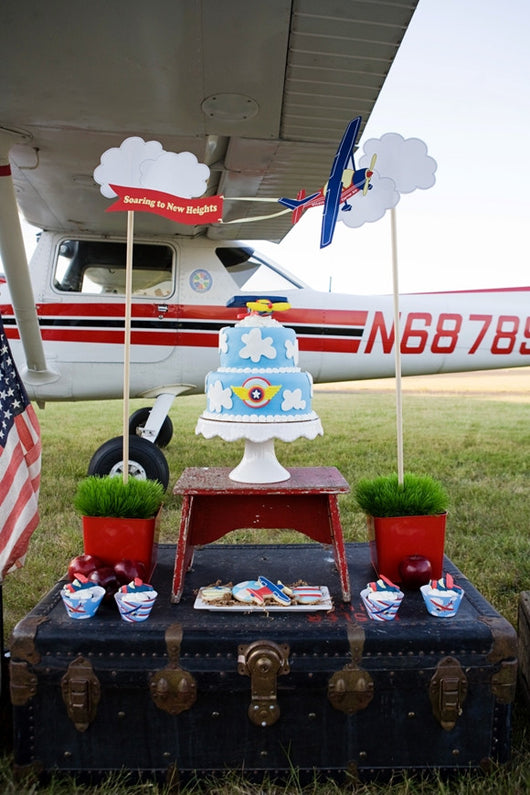 Little Aviator Birthday Party Printables Supplies