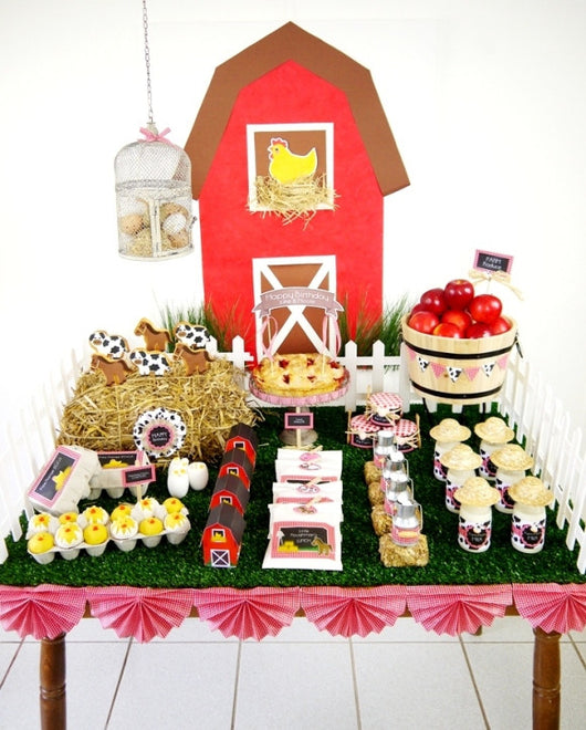 Barnyard Birthday Party Printables Supplies & Decorations | BirdsParty.com