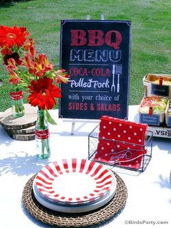 BBQ Grilling Cookout Party Printables Supplies & Decorations | BirdsParty.com