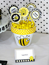 Honey Bee Birthday Party Printables Supplies & Decorations | BirdsParty.com