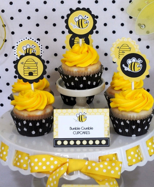 Honey bee birthday party printables supplies shop