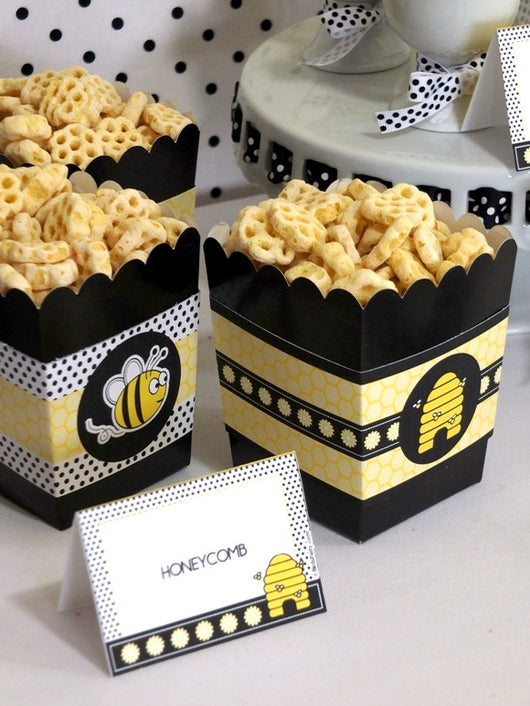honey bee birthday party printables supplies