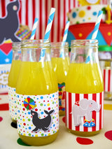 Circus Carnival Birthday Party Printables Supplies & Decorations | BirdsParty.com