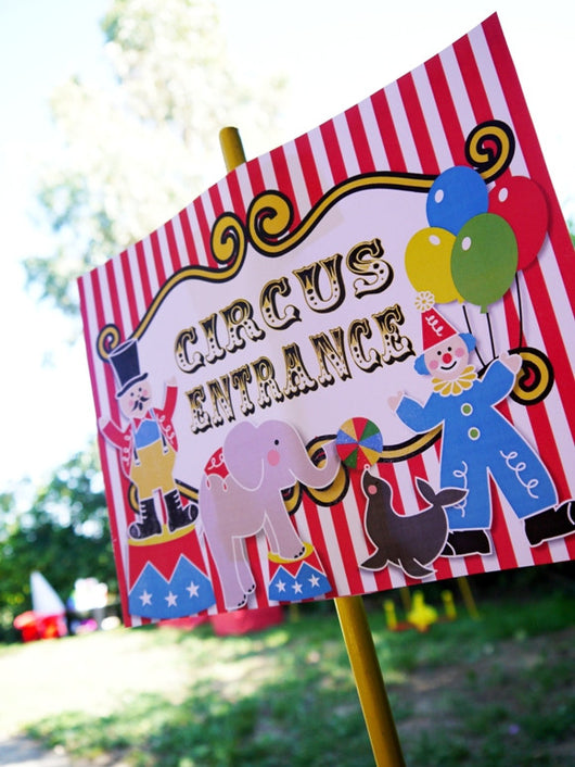 Circus Carnival Birthday Party Printables Supplies