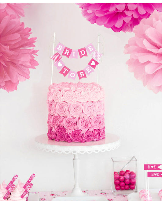 It 39 s a girl cake bunting flags printables shop for Baby shower decoration store