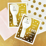 Bridesmaid & Maid of Honor Balloon Gold Foil Card Kit | BirdsParty.com