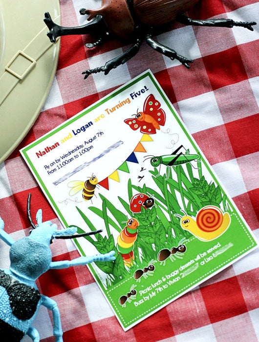 Bugs Birthday Party Printable Invitations | BirdsParty.com