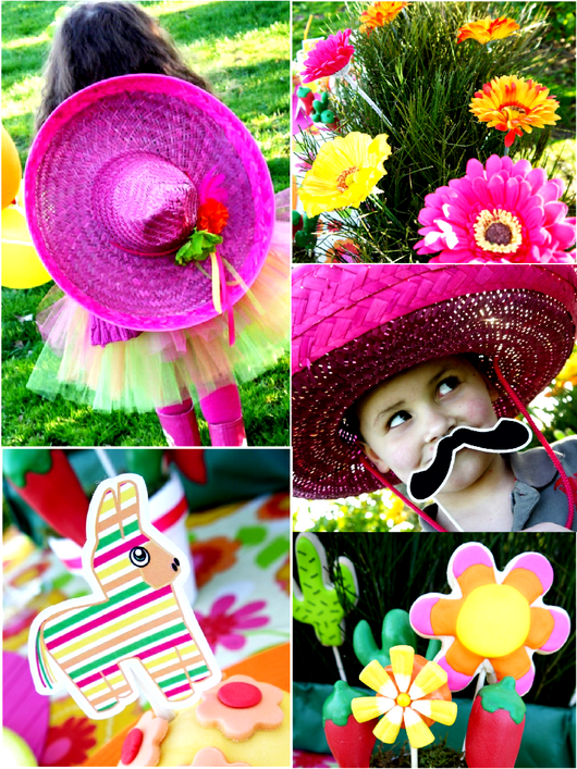 Pinata Fiesta Birthday Party Printables Supplies and Decorations