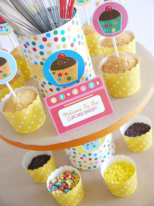 Baking Birthday Party Printables Supplies Birdsparty Com