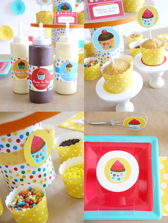 Baking birthday party printables supplies for Bakery decoration