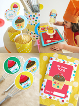Baking Birthday Party Printables Supplies & Decorations | BirdsParty.com