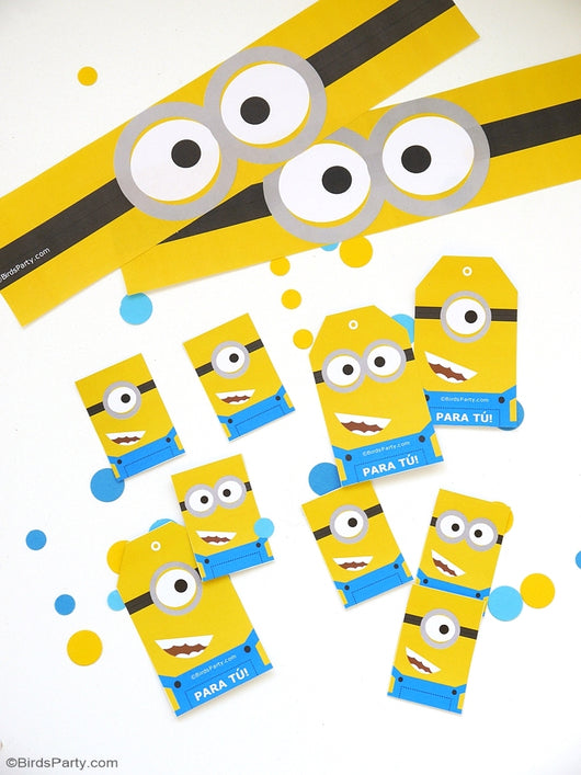 Free Minion Inspired Party Printables | BirdsParty.com