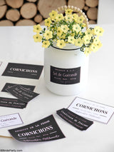 Farmhouse Printable French Jar Labels | BirdsParty.com