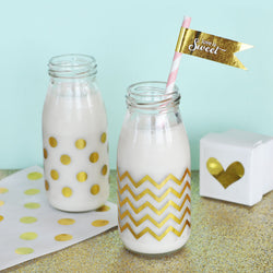 Glass Milk Drinks Bottle | BirdsParty.com