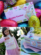Easter Egg Hunt Party Printables Supplies & Decorations Kit with Invitations | BirdsParty.com