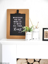 Farmhouse Printable Work Office Sign | BirdsParty.com