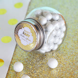 Mini Retro Candy Favor Jars with Lids | BirdsParty.com
