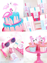 Flamingo Birthday Party Printables Supplies & Decorations | BirdsParty.com
