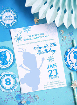 Ice Princess Birthday Party Printable Invitations | BirdsParty.com