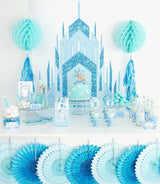 Ice Princess Castle Large Printable Poster Backdrop | BirdsParty.com