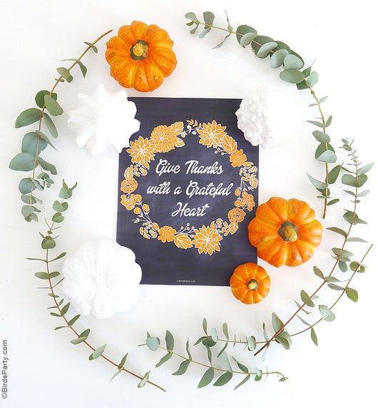 Free Printable Thanksgiving Sign | BirdsParty.com