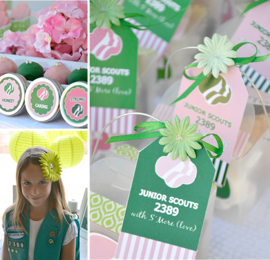 Free Girls Scout Party Printables Supplies & Decorations | BirdsParty.com