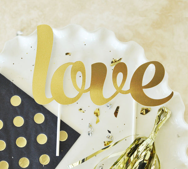 Gold Cake Topper (various designs) | BirdsParty.com