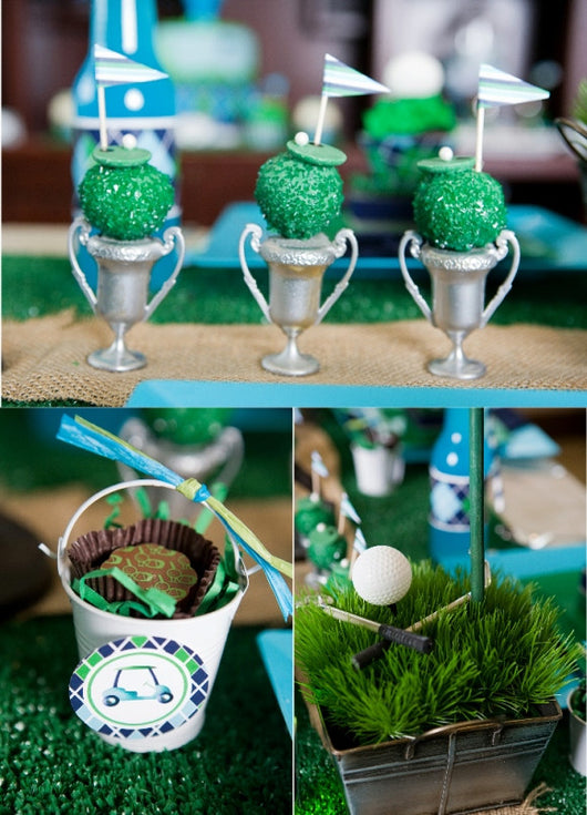 Golf birthday party printables supplies shop