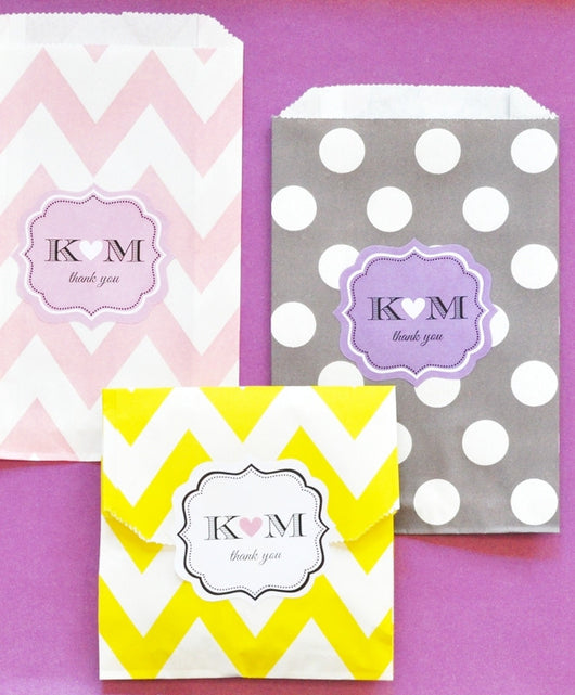 Party Goodie Bags in Chevron or Dots - Various Colors | BirdsParty.com