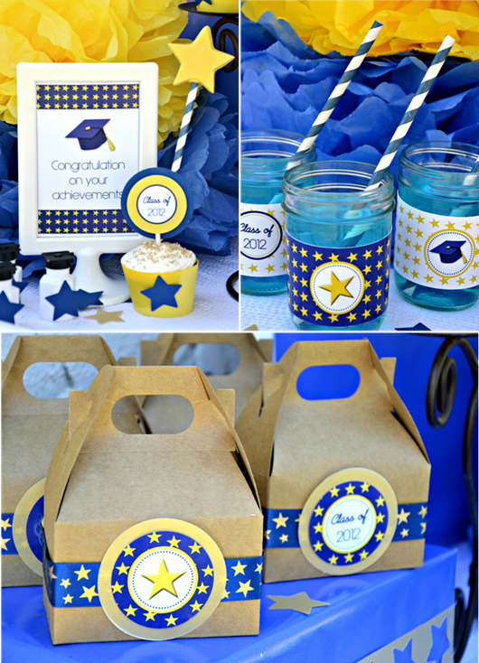 Graduation Party Printables Supplies & Decorations Kit | BirdsParty.com