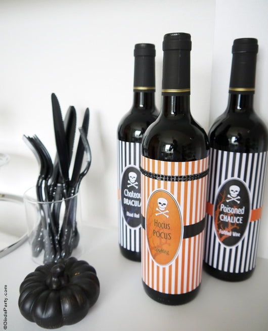 Halloween Cheese U0026 Wine Party Printables Supplies U0026 Decorations Kit