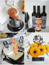 Halloween Cheese & Wine Party Printables Supplies & Decorations Kit | BirdsParty.com
