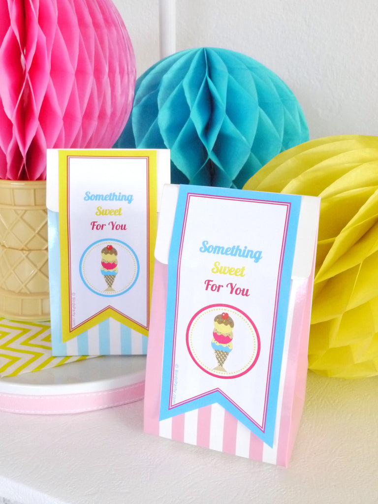 Ice Cream Social Birthday Party Printables Supplies