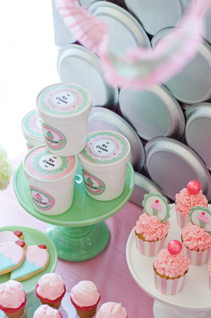 Celebrate It Occasions Favor Boxes With Lids Instructions : Mini ice cream tub containers with lids birdsparty