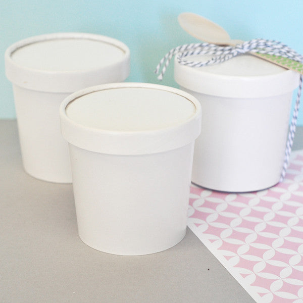 Mini Ice Cream Tub Containers With Lids Birdsparty Com