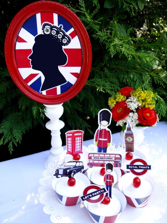 British uk london birthday party printables supplies for London themed bathroom accessories